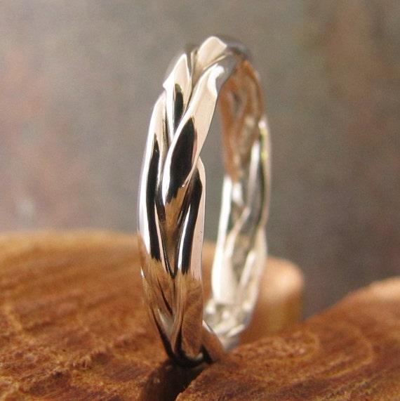 Mens Silver Ring Mans Wedding Band