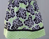 Clearance........ Modern Floral Blossoms Girls Twirl Skirt, Beautiful Colors, Ready to Ship 6/7