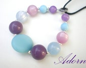 Purple and Light Blue Nursing Necklace