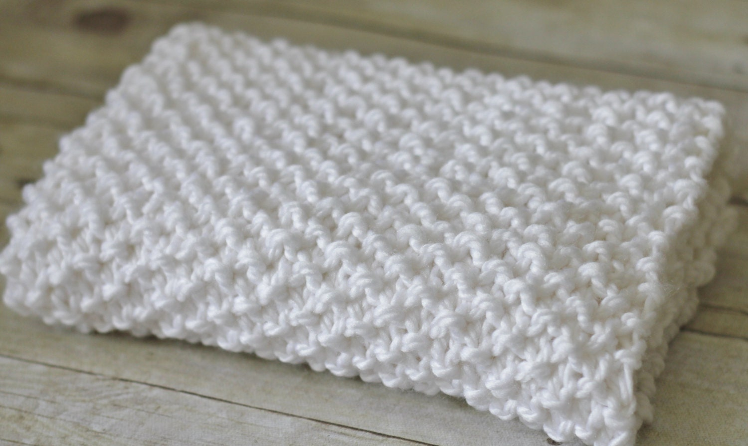 Knit Mini Blanket Seed Stitch Textured Basket Liner by ...