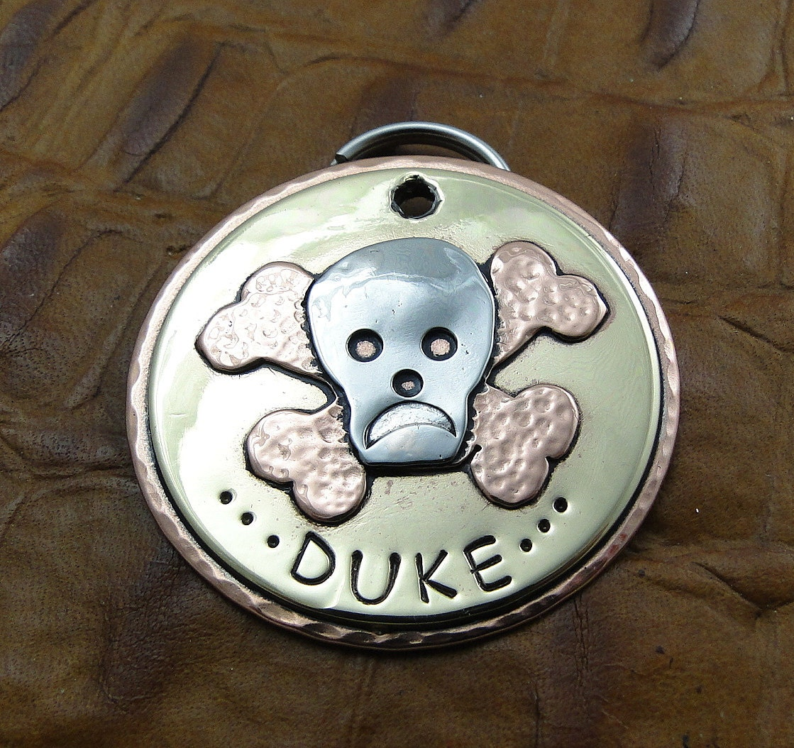Personalized Skull And Crossbones Dog Id By