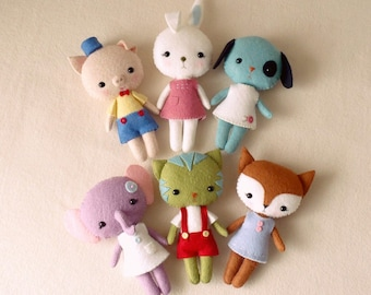 Pocket Pets pdf Pattern - You Choose Two