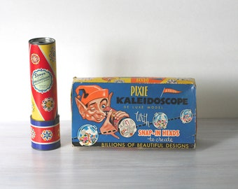 Pixie De Luxe Kaleidoscope Original Box With Three Snap In Heads