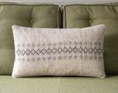 Neutral Decorative Knitted Pillow / Cushion Cover /// Saxon