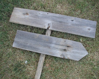 DIY Wood Wedding Kit Sign on Stake Reclaimed Fence Rustic Western Blank  Directional