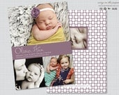 Three Photo Baby Announcement - Digital or Printed