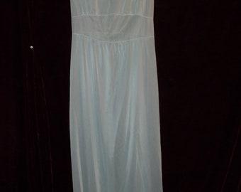 Vintage Baby Blue Nylon Nightgown
