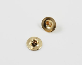 Gold plated 6mm button backs (100)