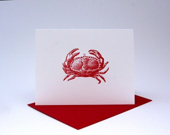 Crabby - Individual Letterpress Card
