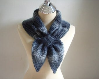 Knitted Scarf in shade of Dark & Grey