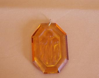 Art Deco Plastic Pendant
