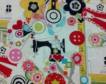 Alexander Henry Fabric 100% Cotton Quilt Quilting Fabric  Buttons Zippers Pin Cushions 1 yard