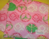 Burp cloth: Pink Peace More Burp Cloth in shop