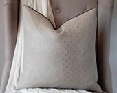 """Silver Metallic Linen Stud 18""""x18"""" Pillow"""