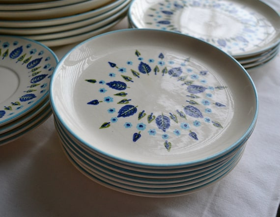 Set of 4 Small Dinner Plates, Swiss Alpine by Stetson Marcrest