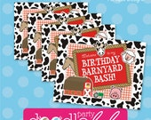 INSTANT DOWNLOAD DIY Party Decorations Farm Barnyard Cow Birthday Printable Signs from DoodleLulu by 2 june bugs