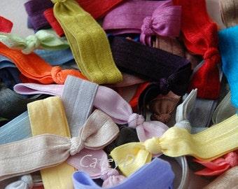 SALE Last Set 30 Knotted Hair Ties - Grab Bag