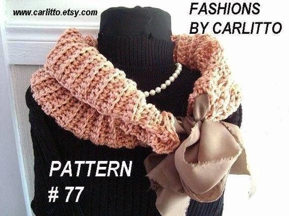 crochet pattern, num77. COWL, Scarf or Shawl Crochet Pattern ...make it any size, instant download