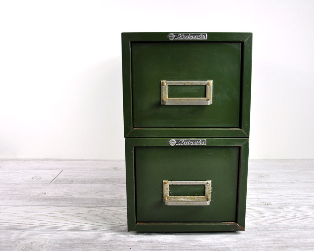 RESERVED Stackable Industrial File Cabinet By HavenVintage