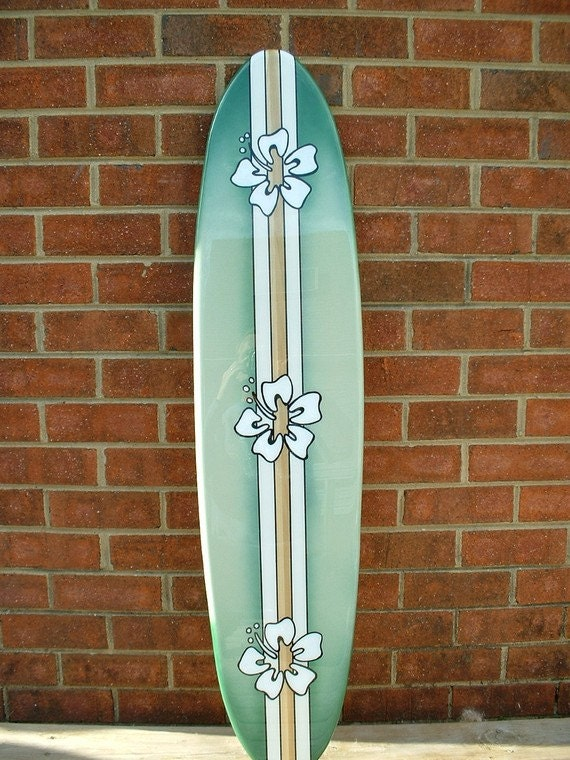 Surfboard wall art surfboard wall hanging four foot beach