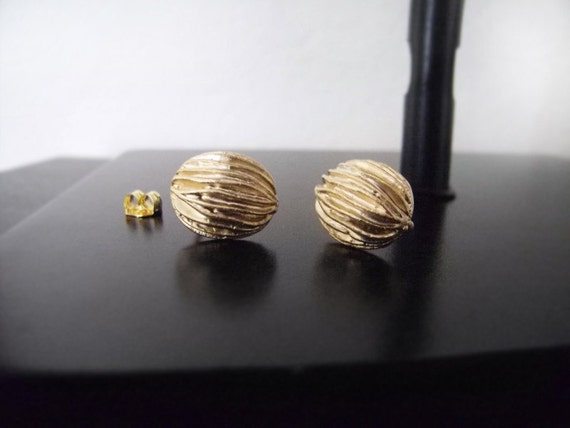 Gold Walnut Studs - Gold Studs - Matte Gold - Nuts - Holiday Jewelry - Gold Earrings - Nature Earrings - Organic - Black Friday Etsy