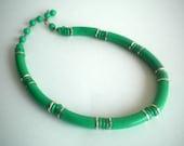 Vintage Green Necklace Choker