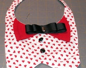 Dog Vest with Hearts Handmade Valentine