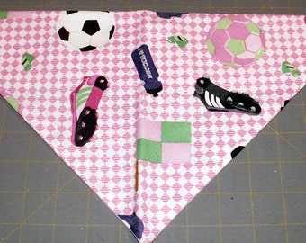Dog Bandana Soccer, futbol, girl, diva, Sports, neckerchief, scarf