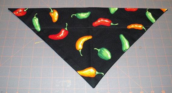 Hot Chilis  Handmade Dog Bandana