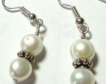 Pearl Earrings with Sterling