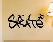 Skateboard Wall Decal Removable Skateboarder Wall Sticker