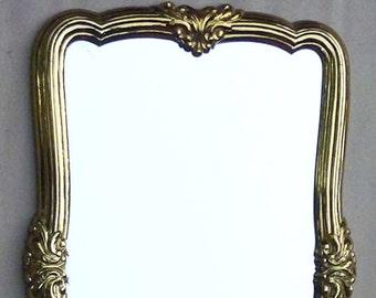 HOLLYWOOD REGENCY / Syroco Era / Gold Vintage Mirror . . . Vertical or Horizontal . . .
