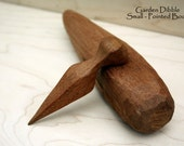 Hand-Carved Garden Dibble - Small, Pointed Body