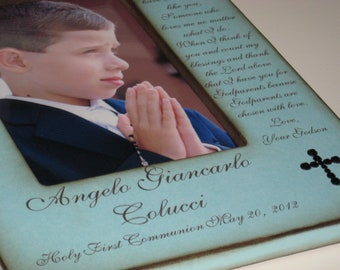 Holy First Communion- Gift for Godparents- Personalized Photo Frame for Godparents