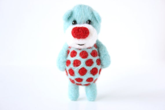 THE MOST AWESOME polka dotted pocket bear in the collection 23