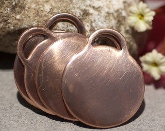 Copper Disc Tag 20g 21mm Blanks Cutout for Enameling Stamping Texturing 1 inch - 4 pieces