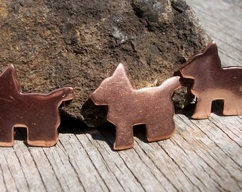 Copper Scotty Dog 17.5mm x 15mm for Blanks  Enameling Stamping Texturing