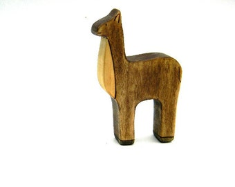 llama wooden toy, waldorf toy animals, wooden waldorf toys, llama figurine, alpaca toy, wood toys