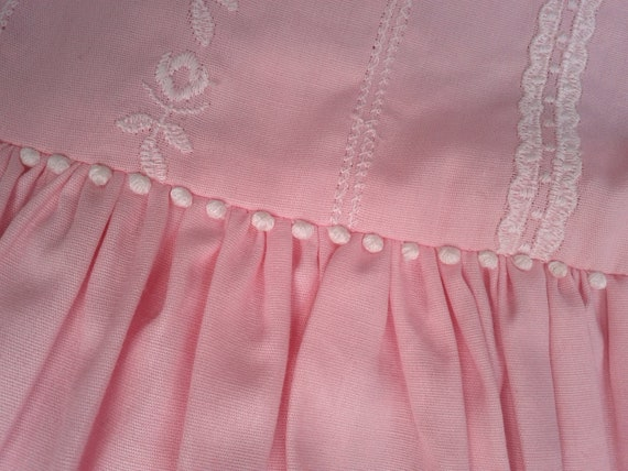 Vintage 1960s, MINT CONDITION  --  Girls Dress,  Size 14, Pink  Delicate and Detailed.