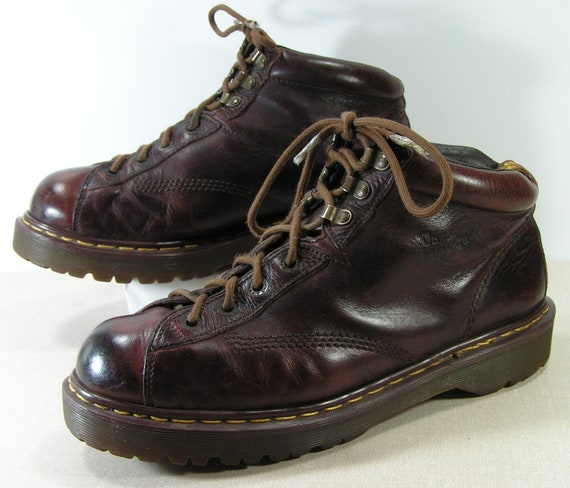 dr martens ankle boots mens u.s. size 11.5 or 12 D brown shoes u.k. size 11  leather grunge emo made in england