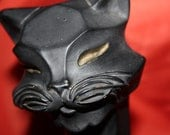 reserved for Courtney only  Very Vintage Black Cat Statue