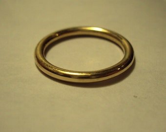 Set of 2 rings, 12g bands, Jewelry, Ring, gold, 14k, filled, smooth, simple, plain, sophisticated