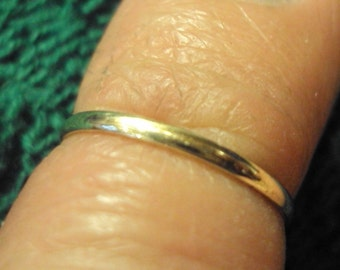 Etsy jewelry, 14g half round, 14kt solid gold ring, smooth, satin, hammered, or stardust effect