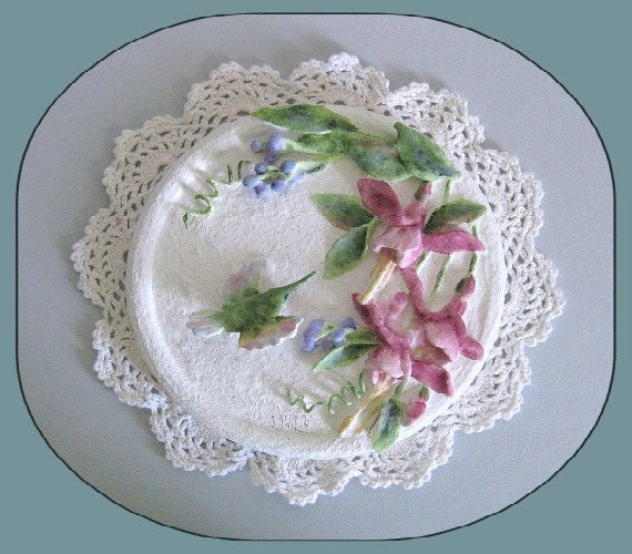 Pink Floral Arrangement, Hummingbird, Wall Decor, Decoration, Bird Flowers, Wall Hanging, Clay, Humming Bird, Plaque, Handmade Home Decor