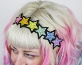 Rainbow Stars Headband, Pastel or Brights