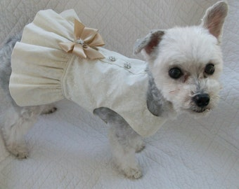 Wedding Dog  Dress  Harness for Dog or Cat Outfit