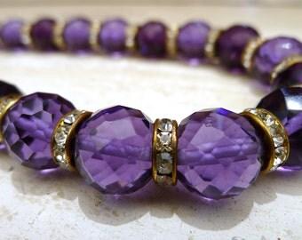 Vintage 1930s Amethyst Color Necklace