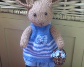 Bunny BLUEBELL      Handmade knitted sweet bunny