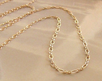 Long Gold Filled Chain Necklace, Gold Layering Necklace, 14kt Gold Filled Chain Necklace, Layering Gold Necklace, Gold Layering Necklace