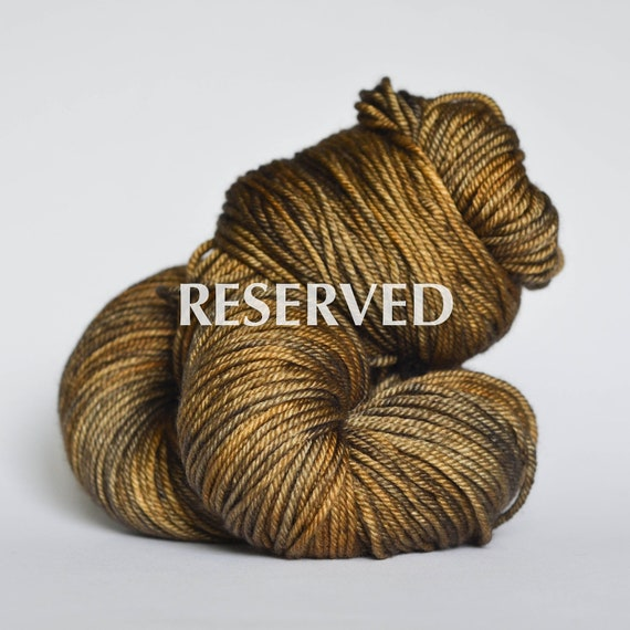 RESERVED listing no. 2007 - CEMENT (intense) ... Silky DK, hand dyed yarn